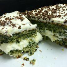 Шпинатный торт с москарпоне